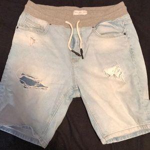 Zara men denim shorts